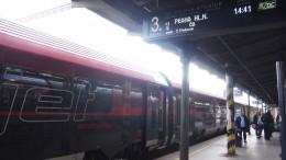 ブルノ駅にて