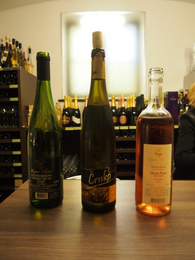 試飲した3本のワイン