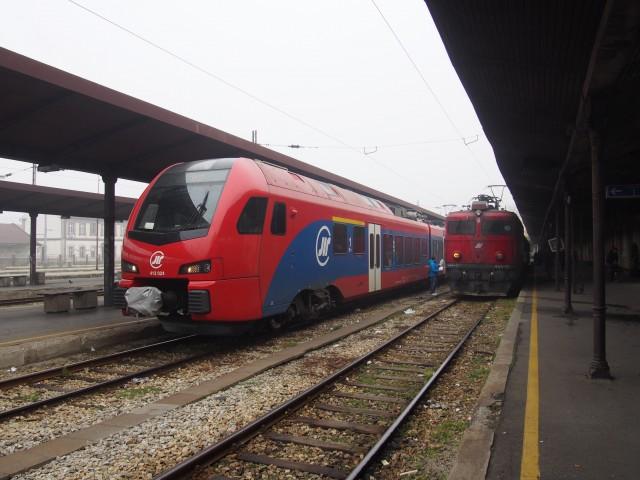ベオグラード駅にて