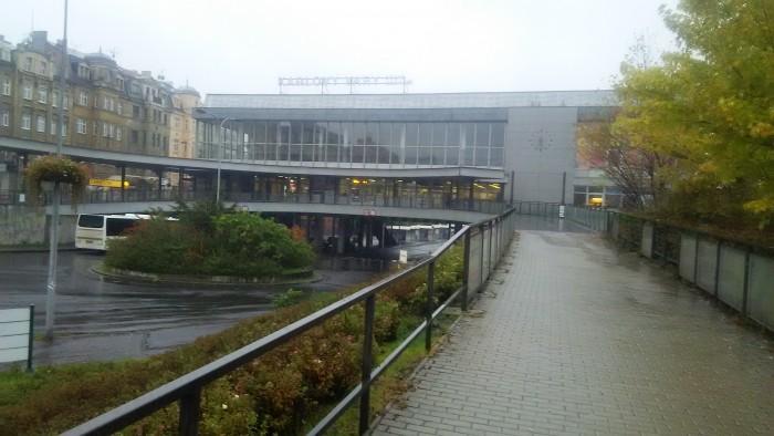 カルロヴィ・ヴァリのバスターミナル