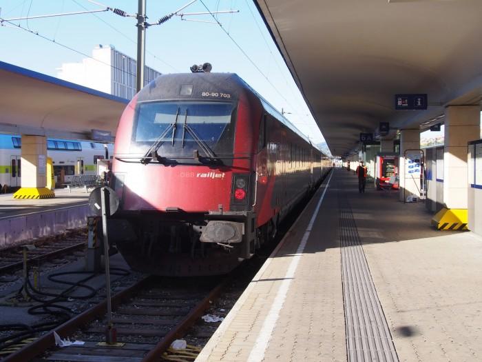 こちらはオーストリア仕様のRailjet